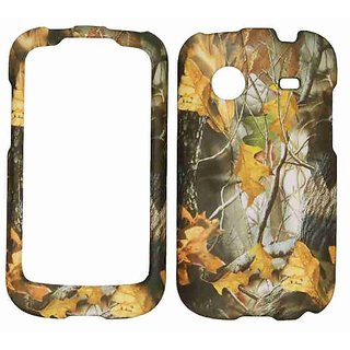 Cell Armor ZTE Whirl Snap-On Cover - Retail Packaging - Hunter Series with Dry Leaves