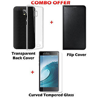 new concept 64109 c3b96 Samsung Galaxy J7 Prime Combo Of Flip Cover, Transparent Back Cover  Tempared Glass