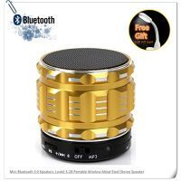 Mini Bluetooth 3.0 Speakers, Lovkit™ S-28 Portable Wireless Metal Steel Stereo Speaker With Fm Radio Support TF/Mi