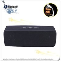 Ultra Bass Dual Speaker Bluetooth 3.0 Speakers, Lovkit™ HS201 Portable Wireless Stereo Speaker With Fm Radio Suppo