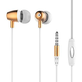 Dislot Earphones Metal In-ear Super Bass Earbuds Headset with Mic Remote Stereo Headphones for Iphone, Ipod, Ipad, Samsu
