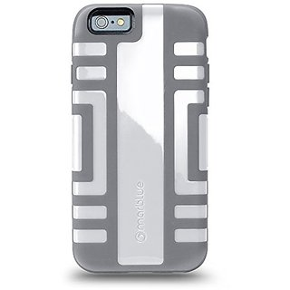iPhone 6 (4.7) Case, MarBlue Elite for iPhone 6- White/Gray