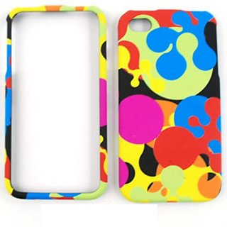 Cell Armor Snap-On Case for iPhone 4/4S - Retail Packaging - Colorful Milk Drop
