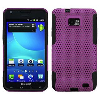 Asmyna ASAMI777HPCAST001NP Astronoot Premium Hybrid Case with Durable Hard Plastic Faceplate for Samsung Galaxy S II/SGH
