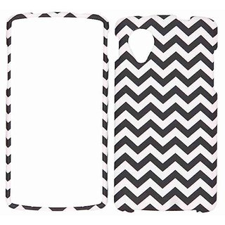 Cell Armor LG Nexus 5 Snap-On Cover - Retail Packaging - Black/White Waves