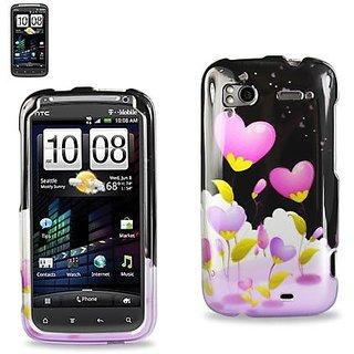 Reiko 2DPC-SENSATION-150 Premium Grade Durable Snap On Protective Case for HTC Sensation 4G - 1 Pack - Retail Packaging