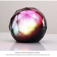 Remote Contorl Bluetooth Color Ball Speakers, Atmosphere Lighting Magic LED Portable Bluetooth Speaker (Black)