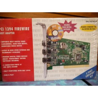 PCI 1394 Firewire Host Adapter