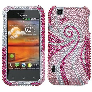 Asmyna LGE739HPCDM005NP Dazzling Diamante Bling Case for LG myTouch E739 - 1 Pack - Retail Packaging - Phoenix Tail