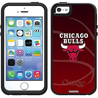 Coveroo Chicago Bulls Basket Ball Design Phone Case for iPhone 5/5s - Retail Packaging - Black