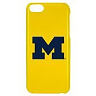 NCAA Michigan Wolverines Case for iPhone 5C, One Size, Yellow
