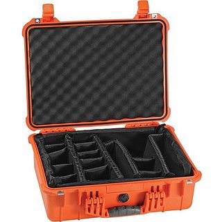 Pelican Products 1520-004-150 Pelican 1520-004-150 Medium Case with Padded Dividers (Orange)