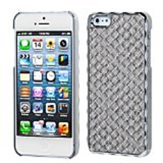 MYBAT IPHONE5HPCBKLE231WP Premium Executive Case for iPhone 5 / iPhone 5S - 1 Pack - Retail Packaging - Silver...