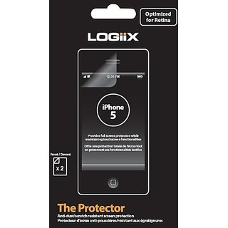 Logiix LGX-10501 Screen Protector for iPhone 5 - 1 Pack - Retail Packaging - Clear