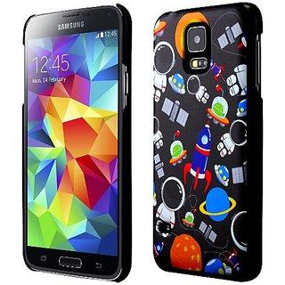 Galaxy S5 Case, Cruzerlite Print Cases (PC Case) Compatible with Samsung Galaxy S5 - Astronauts