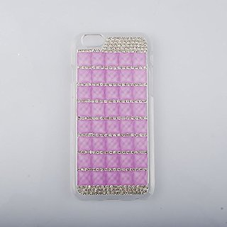 Handmade Bling Shining Diamond Crystal Rhinestone Bling frame shelf cover case for iphone 6,iphone 6 case,4.7 inch scree