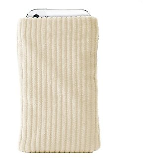 Katinkas USA 4076 Corduroy Sleeve Smart Phone Pouch for Sony Ericsson Xperia mini - 1 Pack - Retail Packaging - Creme