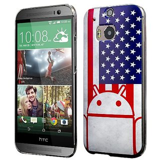 HTC One M8 Case, Cruzerlite Print Cases (PC Case) Compatible with HTC All New One (M8) 2014 - US Flag