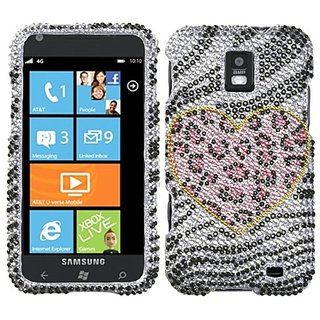 Asmyna SAMI937HPCDM173NP Premium Dazzling Diamond Diamante Case for Samsung Focus S - 1 Pack - Retail Packaging - Playfu