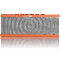 Liztek PSS-100 Portable Wireless Bluetooth Speaker With Built In Speakerphone, 8 Hour Rechargeable Battery (Orange)
