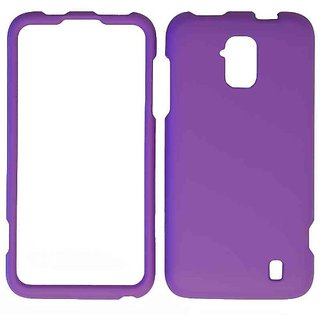 Cell Armor Snap-On Cover for ZTE Z795G - Retail Packaging - Fluorescent Solid Dark Purple