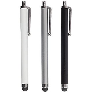 Audiovox Surface Rubber-Tipped Stylus - Retail Packaging - White/Silver/Black