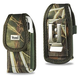 Reiko Rugged Pouch for LG LX260 RUMOR AM31 - Retail Packaging - Green