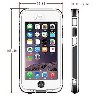 Universal Shockproof, Waterproof case, Hard Phone case for iPhone 6 & 6S (White)