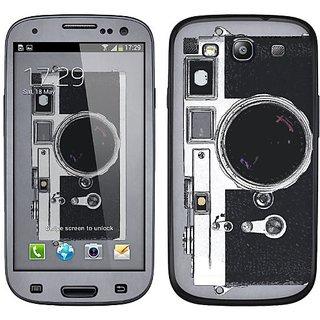Cellet Camera Skin for Samsung Galaxy S3 - Black/Gray