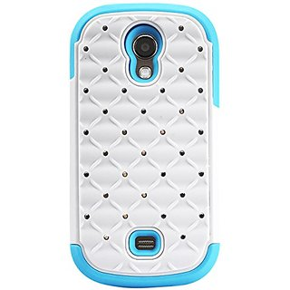 Reiko SAMSUNG GALAXY LIGHT T399 Premium Hybrid PC + Silicone Double Protection Diamond Bling Case Cover - Retail Packagi