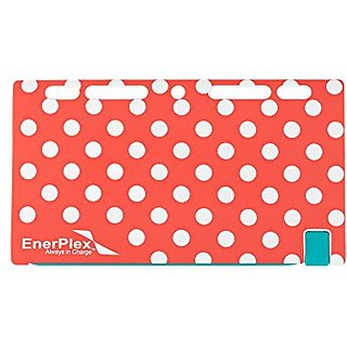EnerPlex Jumpr Slate 5K Ultra Slim Rechargeable Battery for Smartphones, GPS & Other Devices, Pink Polka Dots, JRSLATE5K