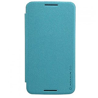 Nillkin Moto Nexus 6 Sparkle Leather Case - Retail Packaging - Blue