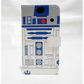 G2 Case, LG Optimus G2 Wallet CASE - R2D2 Robot Pattern Premium PU Leather Wallet Case Stand Cover with Card Slots, Cash
