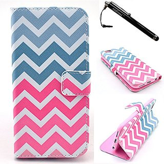 iPhone 6 Case, iPhone 6S Case, Color Ripple Leather Flip Wallet Protective Soft Skin Case Magnetic Clasp Dust plug Stylu