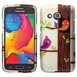 Zizo Rubberized Design Hard Snap-On Cover - Retail Packaging - Singing Birds