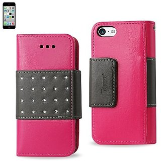 Reiko FLIP CASE WITH DIAMOND DOTS FOR IPHONE5C - Retail Packaging