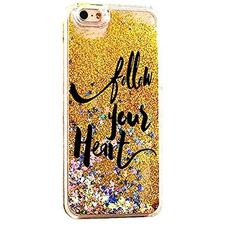 iPhone 6S Case Follow Your Heart Life Quote Teen Girls NPGold Cover For iPhone 6S Luxury Soft Bling Glitter Sparkle Hybr