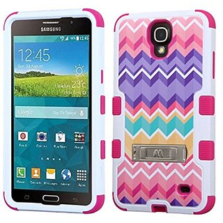 MyBat Carrying Case for Samsung G750 (Galaxy Mega 2) - Retail Packaging - Camo Wave/Hot Pink