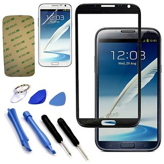 Replace Screen Outer Glass Lens for Samsung Galaxy Note 2 N7100 (Black) (BK)