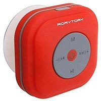 RoryTory Bluetooth FM Radio Waterproof Shower Speaker With Suction Cup Wall Mount - RED