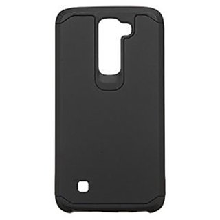Asmyna Cell Phone Case for LG K7 (Tribute 5) - Retail Packaging - Black/Black
