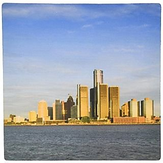 3dRose LLC 8 x 8 x 0.25 Inches Michigan Detroit Renaissance Center and GM Walter Bibikow Mouse Pad (mp_91233_1)