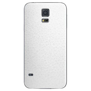 Samsung Galaxy S5 Skins, Cruzerlite Leather (Back) Skins Compatible for Samsung Galaxy S5 - White