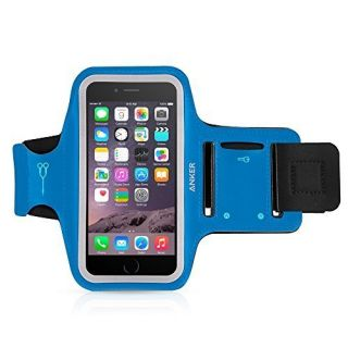 Anker Sport Armband for iPhone 6 / iPhone 6s (4.7 inch) with Headphone and Key Slots and 2 Extra Cuttable Velcro Strips