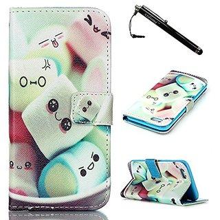 S6 Case, Galaxy S6 Case, Samsung S6 Case, Cartoon Sponge Bob PU Leather Flip Wallet Skin Case Magnetic Clasp with Dust p