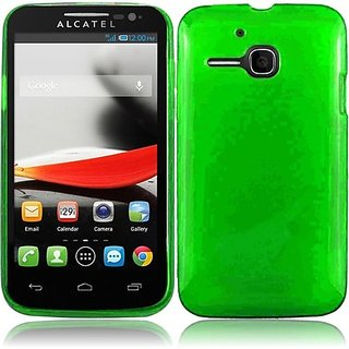 HR Wireless Frosted TPU Protective Cover for Alcatel One Touch Evolve - Retail Packaging - Neon Green