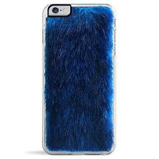ZERO GRAVITY Posh Cellphone Case for iPhone 6/6s Plus - Retail Packaging - Blue Faux Fur