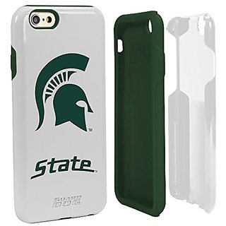 NCAA Michigan State Spartans Hybrid Case for iPhone 6, White, One 6