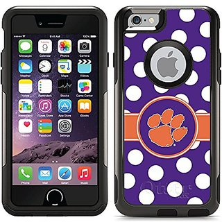 Coveroo Clemson Polka Dots Design Phone Case for iPhone 6 - Retail Packaging - Black