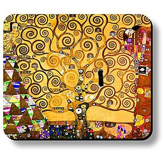 Schoolsupplies Decorative Mouse Pad Art Print Klimt Tree Of Life